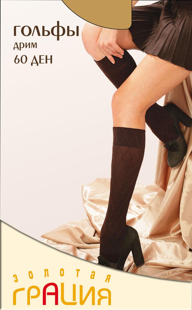 Гольфы Золотая Грация Дрим 60, цвет: мокко. Размер универсальныйДрим 60Плотные фантазийные гольфы из мультифибры с красивым рельефным рисунком. Комфортные, с эффектом велюра.