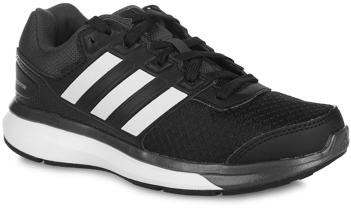 Кроссовки для бега детские adidas Performance Response K, цвет: черный. S74514. Размер 12,5 (19)S74514Детские кроссовки для бега Response K от adidas Performance выполнены из дышащего сетчатого текстиля и дополнены вставками из искусственной кожи для дополнительной поддержки. По бокам обувь оформлена тремя фирменными полосками, на язычке, заднике и мыске - логотипом бренда. Классическая шнуровка надежно зафиксирует изделие на стопе. Текстильная подкладка предотвратит натирание и гарантирует уют. Стелька OrthoLite, изготовленная из ЭВА материала с текстильной поверхностью, обеспечивает хорошую вентиляцию и защищает от образования бактерий, грибка и неприятного запаха. Технология adiPrene + создает максимальное усилие в области носка в момент отталкивания. Подошва из резины с технологией adiWear повышает срок службы и функциональность обуви. Torson System предназначена для поддержки средней части стопы. Рельефное основание подошвы гарантирует уверенное сцепление с любой поверхностью.