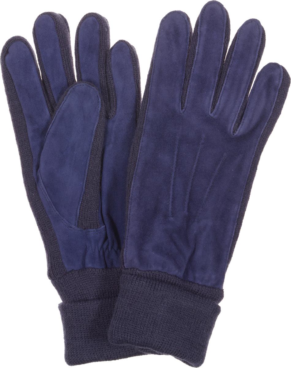 Перчатки женские Fabretti, цвет: синий, темно-синий. 42.1-11. Размер M (6,5/7)42.1-11Женские перчатки Fabretti оригинального исполнения станут великолепным дополнением вашего образа и защитят ваши руки от холода и ветра во время прогулок.Перчатки изготовлены из высококачественного комбинированного материала (замши и трикотажа), что позволяет им надежно сохранять тепло. Они мягкие и идеально сидят на руке и хорошо тянутся. Перчатки оформлены декоративной прострочкой, а манжеты дополнены широкими отворотами и с тыльной стороны присборены на эластичную резинку. Такие перчатки будут оригинальным завершающим штрихом в создании современного модного образа, они подчеркнут ваш изысканный вкус и станут незаменимым и практичным аксессуаром.