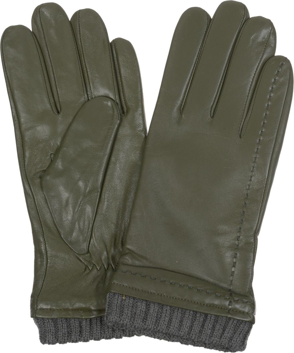 Перчатки мужские Eleganzza, цвет: темно-оливковый. IS982. Размер 8IS982Стильные мужские перчатки Eleganzza не только защитят ваши руки от холода, но и станут великолепным украшением. Перчатки выполнены из натуральной кожи ягненка с подкладкой из шерсти и отделкой из трикотажа. Модель декорирована отстрочками в тон перчаток и дополнена стяжкой на запястье.Перчатки станут завершающим и подчеркивающим элементом вашего стиля.