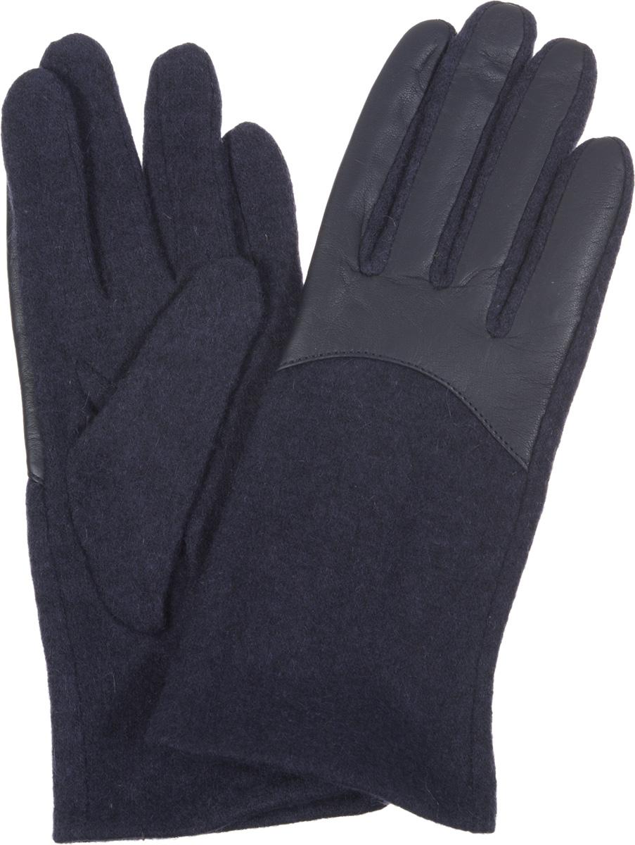 Перчатки женские Fabretti, цвет: темно-синий, черный. 3.9-12. Размер M (6,5/7)3.9-12Элегантные женские перчатки Fabretti станут великолепным дополнением вашего образа и защитят ваши руки от холода и ветра во время прогулок.Перчатки выполнены из высококачественного комбинированного материала, что позволяет им надежно сохранять тепло. Манжеты с тыльной стороны присборены на эластичные резинки. Такие перчатки будут оригинальным завершающим штрихом в создании современного модного образа, они подчеркнут ваш изысканный вкус и станут незаменимым и практичным аксессуаром.