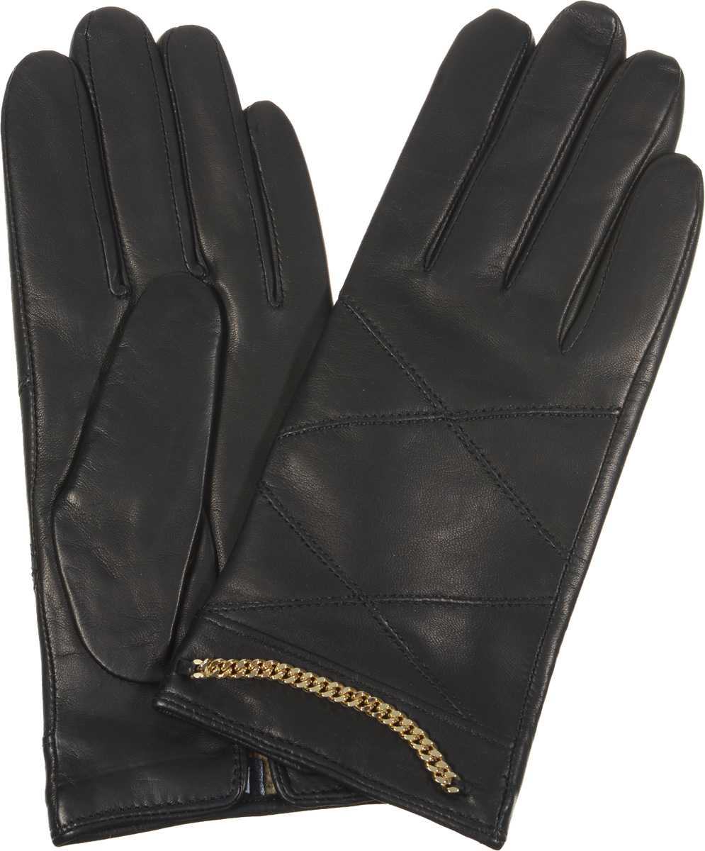Перчатки женские Fabretti, цвет: черный. 2.74-1. Размер 72.74-1Элегантные женские перчатки Fabretti станут великолепным дополнением вашего образа и защитят ваши руки от холода и ветра во время прогулок.Перчатки выполнены из эфиопской перчаточной кожи ягненка на подкладке из шерсти с добавлением кашемира, что позволяет им надежно сохранять тепло. Манжеты с тыльной стороны дополнены небольшими разрезами. Модель декорирована металлической цепочкой и оформлена декоративной прострочкой. Такие перчатки будут оригинальным завершающим штрихом в создании современного модного образа, они подчеркнут ваш изысканный вкус и станут незаменимым и практичным аксессуаром.