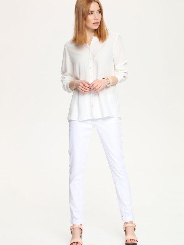 Блузка женская Top Secret, цвет: белый. SBD0605BI. Размер 34 (40)SBD0605BIСтильная блузка Top Secret, изготовленная из мягкой вискозы, подчеркнет ваш уникальный стиль. Материал очень легкий, приятный на ощупь, не сковывает движения и хорошо вентилируется. Блузка с фигурным вырезом горловины и длинными рукавами застегивается на пуговицы по всей длине. Рукава дополнены узкими манжетами с застежками-пуговицами. Такая блузка будет дарить вам комфорт в течение всего дня и послужит замечательным дополнением к вашему гардеробу.