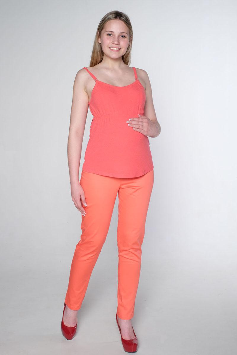 Брюки для беременных Hunny Mammy, цвет: коралловый. 27112. Размер 5027112Элегантные брюки прямого покроя для беременных. Модель выполнена из качественного хлопкового материала. Эластичный пояс позволяет носить данную модель на любом сроке беременности. Сзади два настрочных кармана. Брюки займут достойное место в гардеробе беременной женщины.