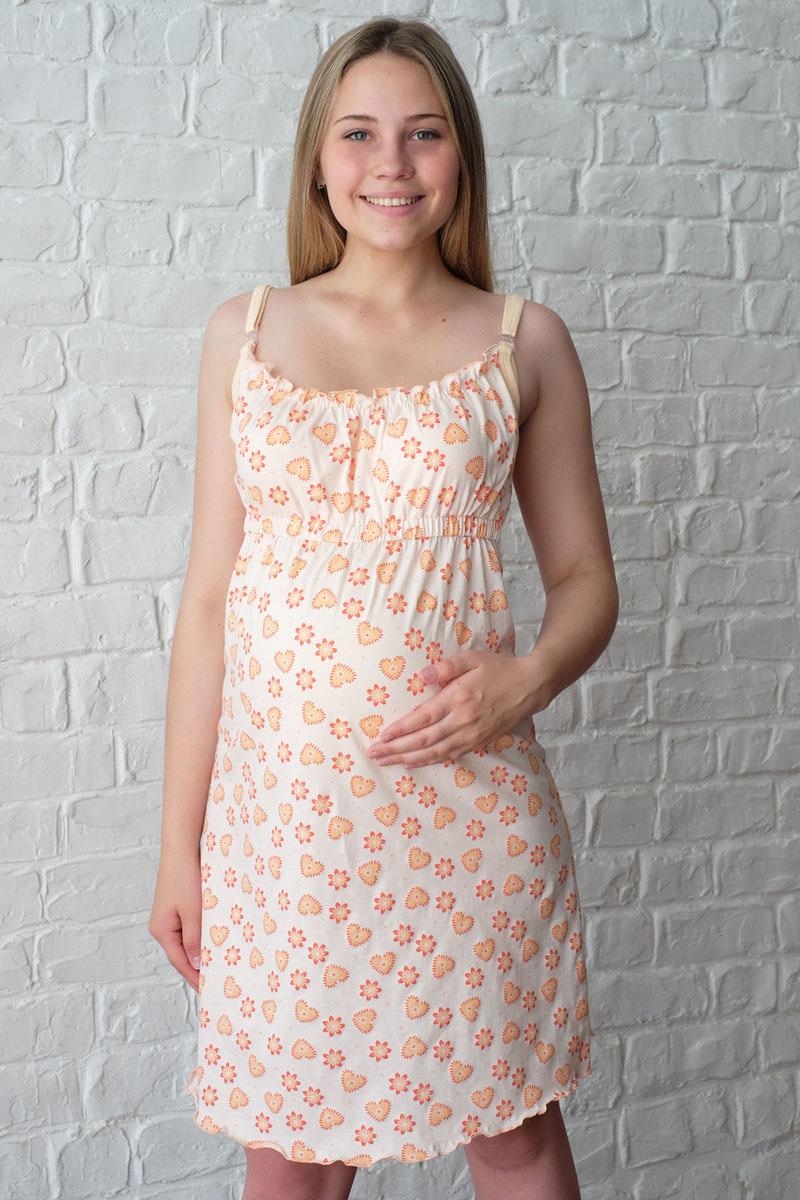 Сорочка для беременных и кормящих Hunny Mammy, цвет: персиковый, оранжевый. 1-НМП 07501. Размер 481-НМП 07501Удобная, красивая сорочка для беременных и кормящих Hunny Mammy, изготовленная из натурального хлопка, женственна и элегантна. Сорочка на тонких бретелях с клипсами для кормления, завышенная линия талии присборена на эластичную резинку. Одежда, изготовленная из хлопка, приятна к телу, сохраняет тепло в холодное время года и дарит прохладу в теплое, позволяет коже дышать.