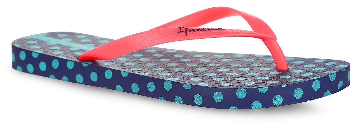 Сланцы женские Ipanema Unique IV Fem, цвет: темно-синий, бирюзовый, неоновый кораллово-розовый. 81773-24095. Размер BRA 35 (36)81773-24095Стильные женские сланцы Unique IV Fem от Ipanema очаруют вас с первого взгляда. Модель полностью выполнена из поливинилхлорида и оформлена на ремешке названием бренда. Верхняя поверхность подошвы у одного сланца оформлена изображение собаки, принтом в полоску и принтом в горох, у второго - принтом в горох. Ремешки с перемычкой гарантируют надежную фиксацию модели на ноге. Рифление на верхней поверхности подошвы предотвращает выскальзывание ноги. Рельефное основание подошвы обеспечивает уверенное сцепление с любой поверхностью. Удобные сланцы прекрасно подойдут для похода в бассейн или на пляж.