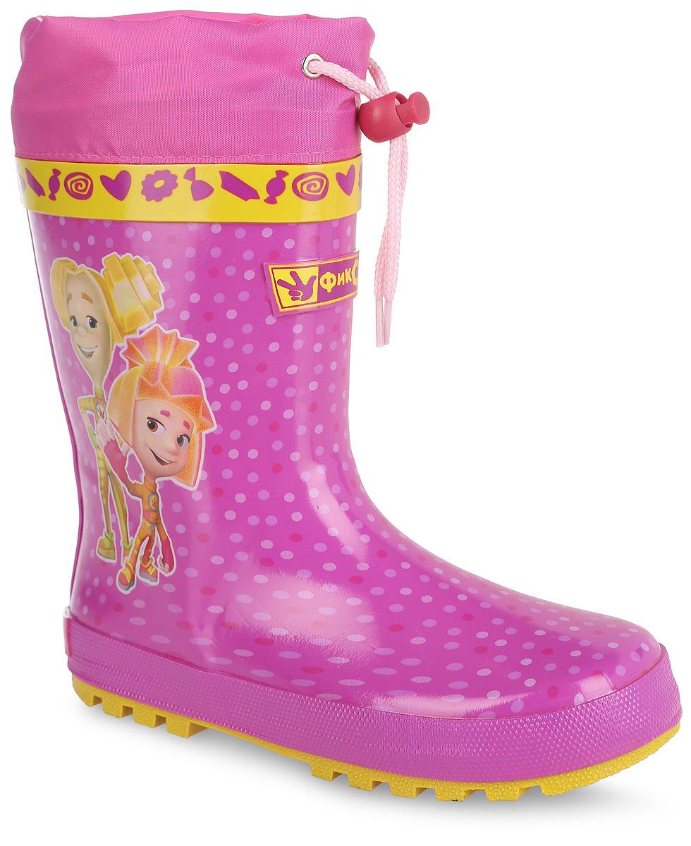 Сапоги резиновые для девочки Kakadu Фиксики, цвет: розовый. 6072B. Размер 326072BЯркие резиновые сапоги Фиксики от Kakadu отлично защитят ноги вашего ребенка от промокания в дождливый день. Сапоги, выполненные из резины, оформлены принтом в горох и изображением Шпули и Симки. Внутренняя поверхность выполнена из текстильного материала. Съемная стелька из ЭВА материала с верхней поверхностью из текстиля создаст комфорт при ходьбе. Текстильный верх голенища регулируется в объеме за счет шнурка со стоппером. Рельефная поверхность подошвы гарантирует отличное сцепление с любой поверхностью.Качественная и комфортная обувь с изображениями любимых персонажей порадует юных поклонников познавательного мультсериала Фиксики.