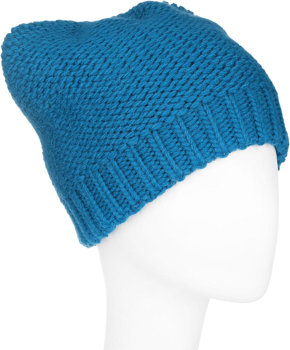 Шапка женская Finn Flare, цвет: темно-бирюзовый. A16-32125_145. Размер 56A16-32125_145Стильная женская шапка Finn Flare дополнит ваш наряд и не позволит вам замерзнуть в холодное время года. Шапка выполнена из высококачественной пряжи, что позволяет ей великолепно сохранять тепло и обеспечивает высокую эластичность и удобство посадки. Изделие дополнено теплой подкладкой. Модель оформлена металлической эмблемой с логотипом производителя. Понизу предусмотрена вязаная резинка.Такая шапка станет модным и стильным дополнением вашего гардероба. Она согреет вас и позволит подчеркнуть свою индивидуальность!