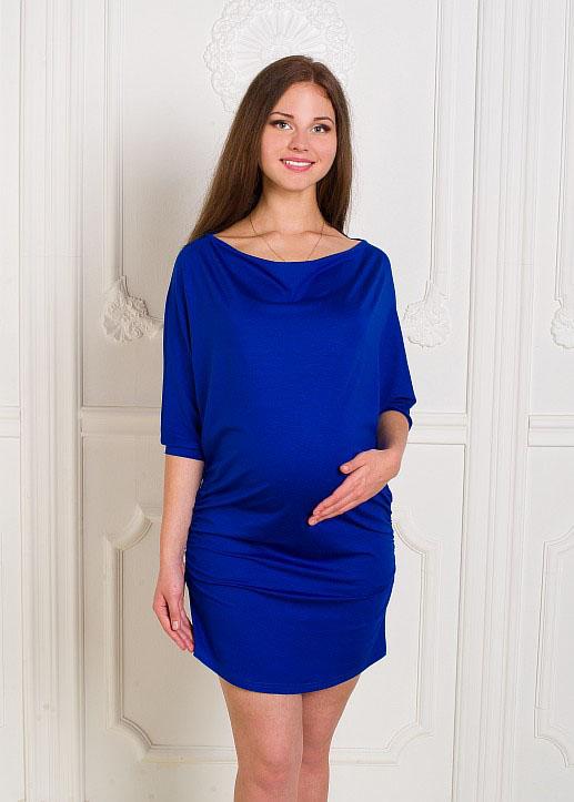 Платье для беременных Hunny Mammy, цвет: синий. 2-НМ 23909. Размер 442-НМ 23909Очаровательное платье с вырезом горловины лодочка и цельнокроеными рукавами летучая мышь длиной 3/4. Лаконичный дизайн, качественный материал и свободный крой изделия позволит беременной женщине или молодой маме чувствовать себя удобно и комфортно в любой ситуации.
