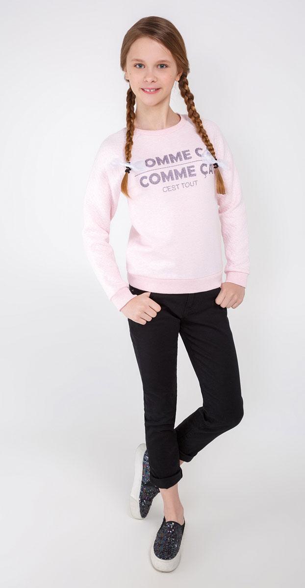 Толстовка для девочки Acoola Arendal, цвет: светло-розовый. 20210170021_3400. Размер 15220210170021_3400Толстовка Acoola Arendal выполнена из высококачественного материала. Модель с круглым вырезом горловины и длинными рукавами оформлена принтом. Манжеты рукавов и низ изделия выполнены из трикотажной резинки.
