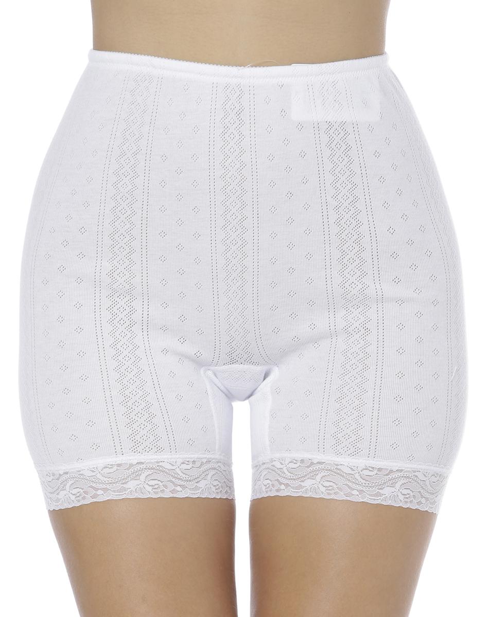 Панталоны женские Vis-A-Vis, цвет: белый. LHP1003M. Размер XL (50)LHP1003MЭлегантные панталоны Vis-A-Vis подчеркнут вашу женственность и уникальный вкус. Панталоны завышенной посадки выполнены из высококачественного натурального хлопка, что позволяет им создавать неповторимое ощущение комфорта и удобства. Комфортные эластичные швы приятны к телу и не раздражают кожу. Изделие выполнено из ажурного хлопкового полотна и дополнено кружевными лентами по низу. Панталоны подтягивают и корректируют фигуру, удобно сидят, не стесняют движений и совершенно незаметны под одеждой, что обеспечивает наибольшее удобство при носке. Они позволят вам чувствовать себя комфортно в любое время и подчеркнут ваше очарование и привлекательность.