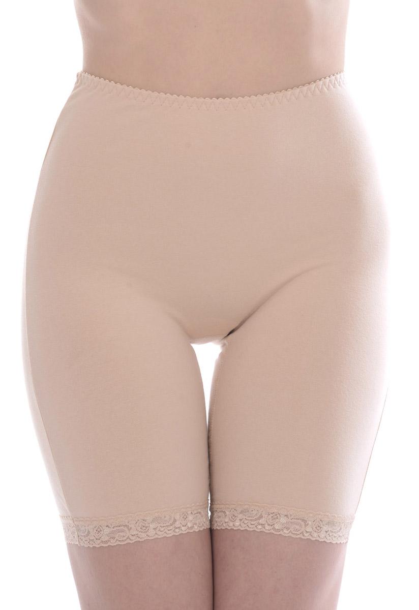 Панталоны женские Vis-A-Vis, цвет: бежевый. LHP1006. Размер L (48)LHP1006Элегантные панталоны Vis-A-Vis подчеркнут вашу женственность и уникальный вкус. Панталоны завышенной посадки выполнены из высококачественного эластичного хлопка, что позволяет им создавать неповторимое ощущение комфорта и удобства. Комфортные эластичные швы приятны к телу и не раздражают кожу. Изделие дополнено кружевными лентами по низу. Панталоны подтягивают и корректируют фигуру, удобно сидят, не стесняют движений и совершенно незаметны под одеждой, что обеспечивает наибольшее удобство при носке. Они позволят вам чувствовать себя комфортно в любое время и подчеркнут ваше очарование и привлекательность.