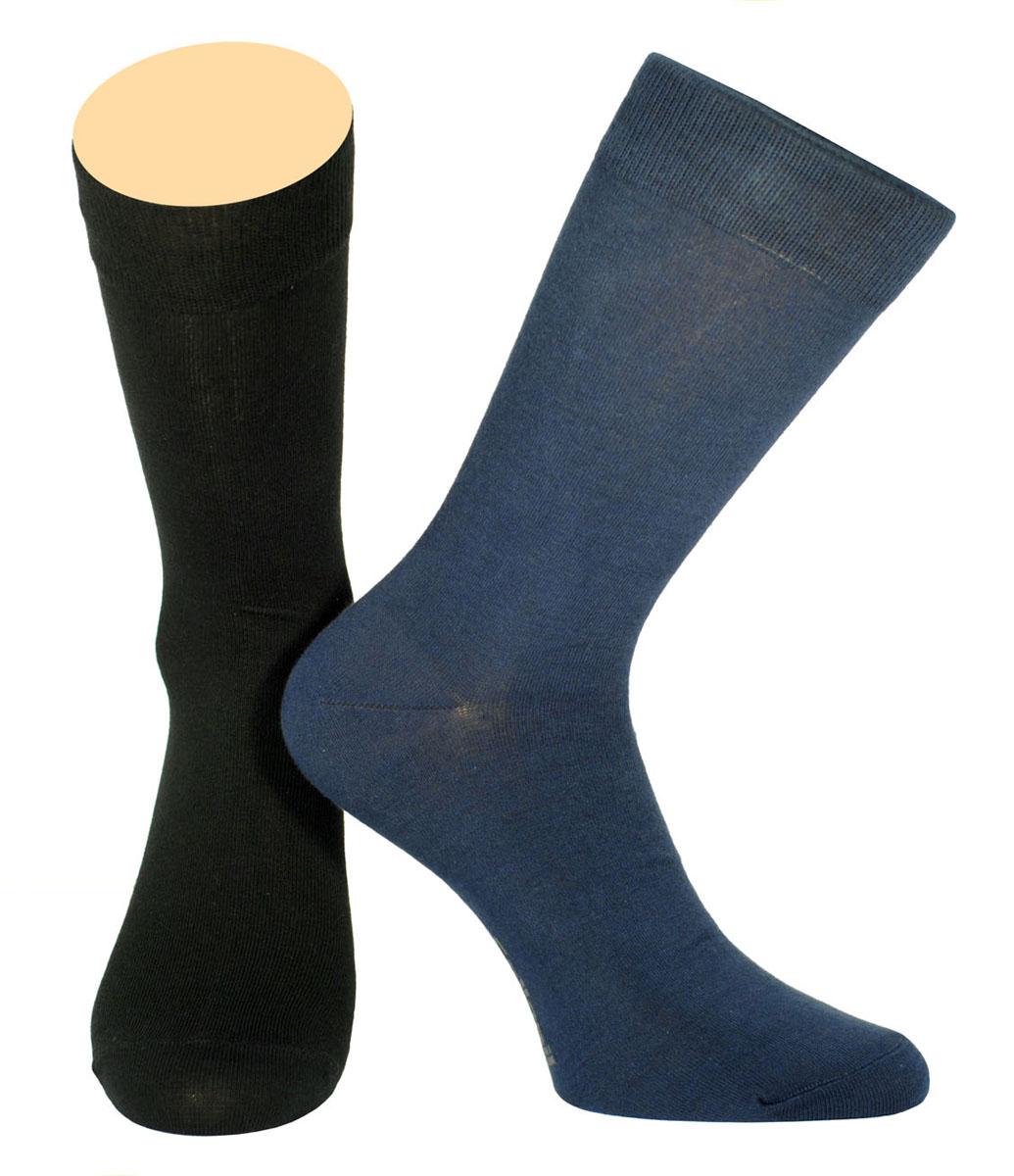 Носки мужские Collonil, цвет: черный, синий, 2 пары. CE3-40/08. Размер 43-46CE3-40/08Мужские носки Collonil изготовлены из эластичного хлопка с добавлением полиамида.Удлиненная широкая резинка не сдавливает и комфортно облегает ногу.В комплекте 2 пары.