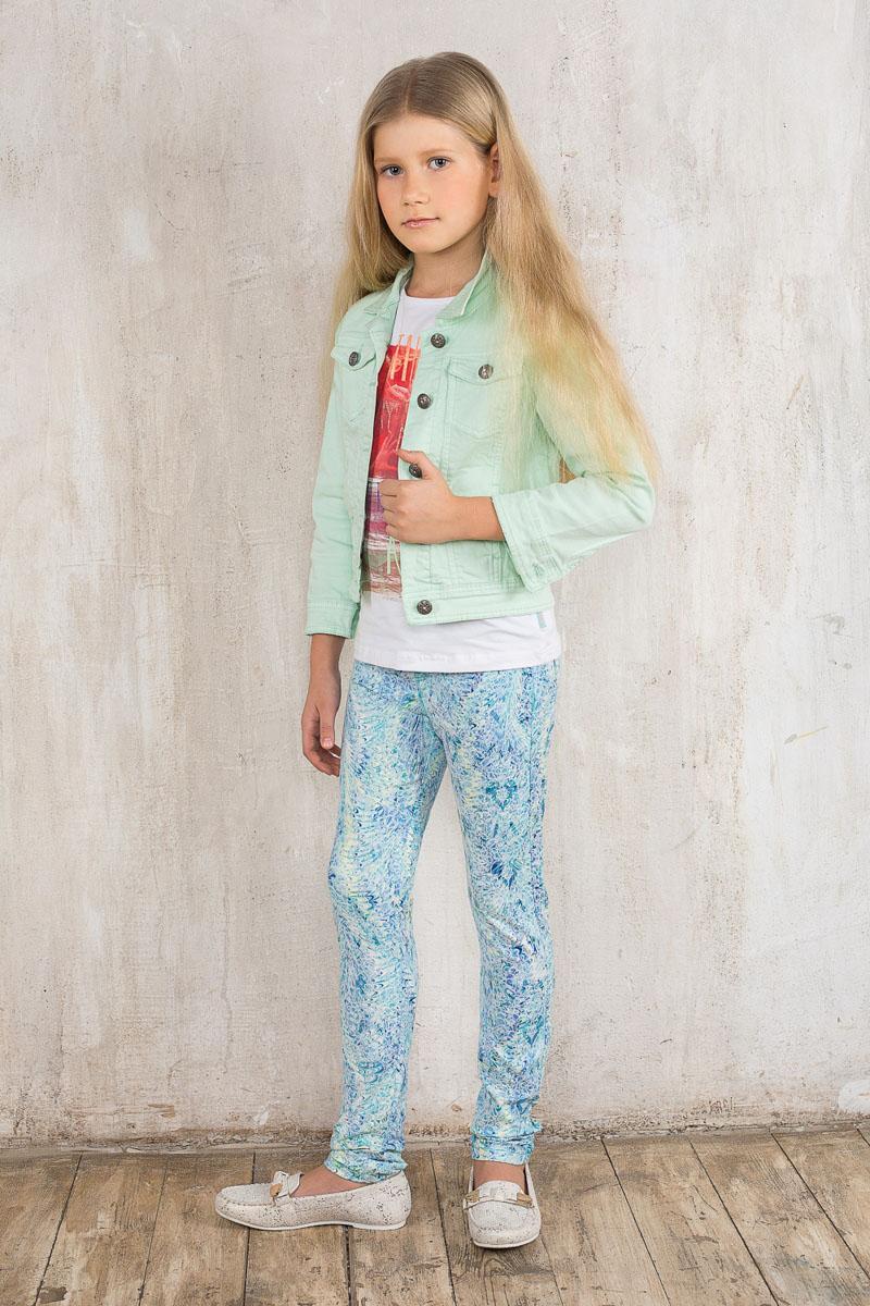 Брюки для девочки Luminoso, цвет: бирюзовый, голубой, желтый. 195821. Размер 164, 14 лет195821Стильные брюки для девочки Luminoso идеально подойдут юной моднице. Изготовленные из эластичного хлопка, они мягкие и приятные на ощупь, не сковывают движения ребенка и позволяют коже дышать, обеспечивая наибольший комфорт. Брюки с широкой эластичной резинкой в поясе оформлены жаккардовым принтом. Спереди изделие дополнено имитацией втачных карманов и ширинки. Сзади имеются два накладных кармана. Современный дизайн и расцветка делают эти брюки модным предметом детской одежды. В них ребенок всегда будет в центре внимания!