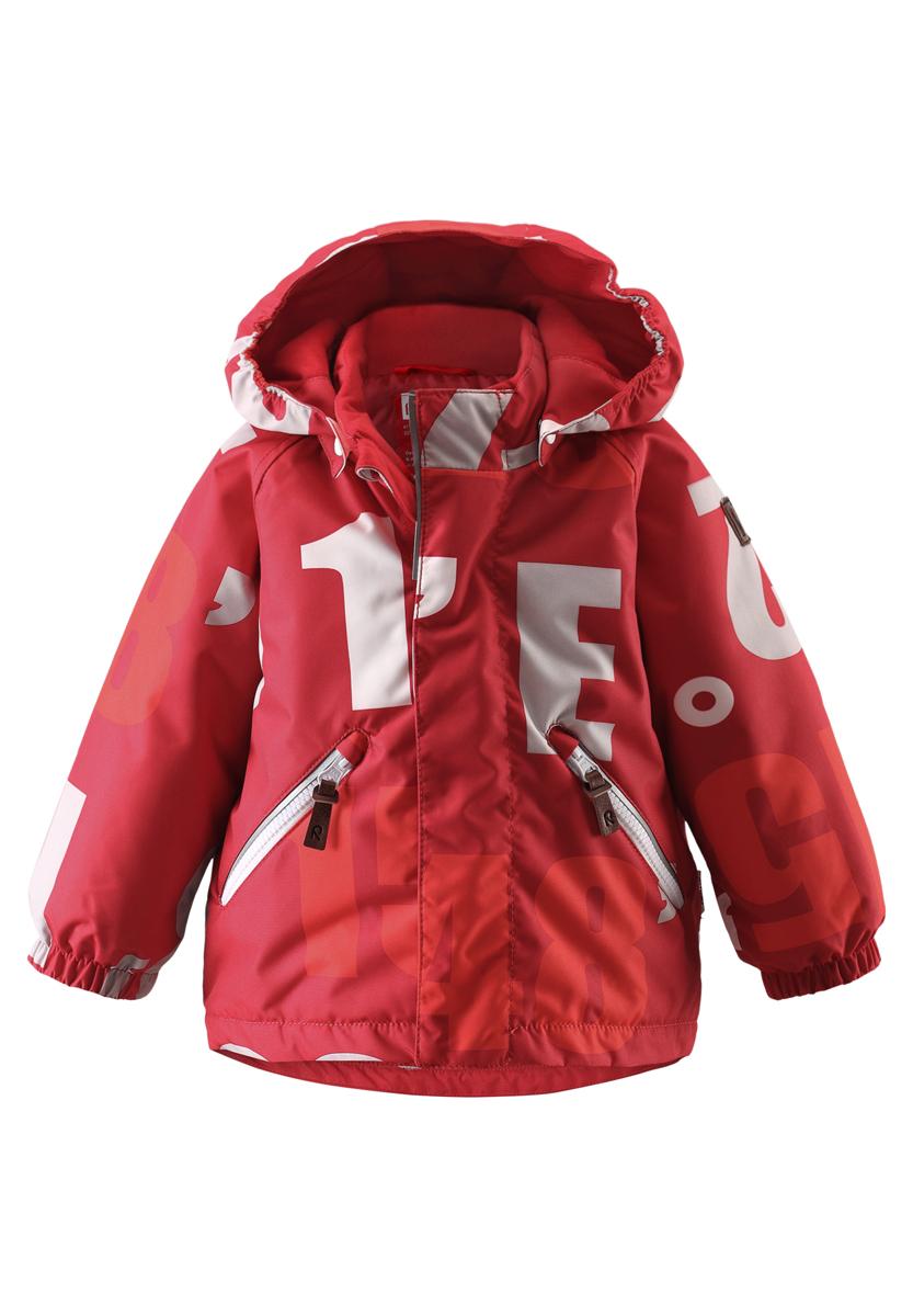 Куртка детская Reima Nappaa, цвет: красный. 511215-3831. Размер 74511215-3831Эта детская зимняя куртка станет стильным нарядом для развлечений зимой! Основные швы проклеены для водонепроницаемости, а материал отталкивает воду и грязь. В этой ветронепроницаемой, пропускающей воздух куртке вашему малышу не страшны ни снег, ни влага. Гладкая подкладка из полиэстера облегчает процесс одевания и удобно носится с теплыми промежуточными слоями. Эта куртка не требует особого ухода и надежно согреет во время веселой зимней прогулки! Водонепроницаемость: Waterpillar over 10 000 mm.