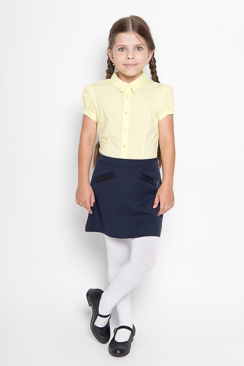 Юбка для девочки Orby School, цвет: темно-синий. 64124_OLG, вариант 2. Размер 128, 7-8 лет64124_OLG, вариант 2Юбка для девочки Orby School идеально подойдет вашей моднице и станет отличным дополнением к ее школьному гардеробу. Изготовленная из высококачественного комбинированного материала, она мягкая и приятная на ощупь, не сковывает движения, не раздражает нежную кожу ребенка, обеспечивая наибольший комфорт. Модель-миди застегивается на потайную застежку-молнию сбоку. С внутренней стороны пояс регулируется эластичной резинкой с пуговицами. Спереди изделие оформлено имитацией втачных карманов.В такой модной юбке ваша дочурка будет чувствовать себя комфортно, уютно и всегда будет в центре внимания!