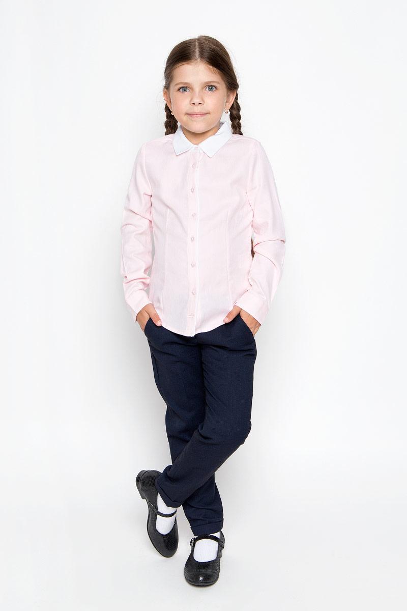 Рубашка для девочки Sela, цвет: розовый. B-612/013-6311. Размер 152, 12 летB-612/013-6311Стильная приталенная рубашка для девочки Sela идеально подойдет вашей дочурке. Изготовленная из натурального высококачественного хлопка, она мягкая и приятная на ощупь, не сковывает движения и позволяет коже дышать, обеспечивая наибольший комфорт. Рубашка с длинными рукавами и отложным воротничком застегивается на пластиковые пуговицы по всей длине, рукава также дополнены манжетами на пуговицах. Изделие оформлено принтом в микрополоску.Современный дизайн и расцветка делают эту рубашку стильным предметом детского гардероба. Модель можно носить как с джинсами, так и с классическими брюками.