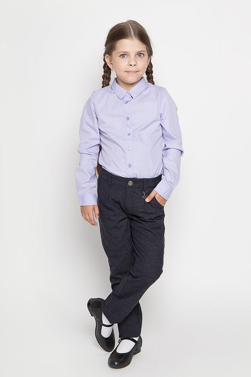 Брюки для девочки Sela, цвет: темно-серый. P-615/489-6311. Размер 122, 7 летP-615/489-6311Удобные брюки для девочки Sela идеально подойдут вашей маленькой моднице. Изготовленные из высококачественного комбинированного материала, они мягкие и приятные на ощупь, не сковывают движения, сохраняют тепло, обеспечивая наибольший комфорт. Прямые брюки застегиваются на ширинку на застежке-молнии и пуговицу на поясе, имеются шлевки для ремня. Спереди расположены два втачных кармана. С внутренней стороны пояс регулируется эластичной резинкой с пуговицами. Изделие украшено небольшим несъемным брелоком в виде короны со стразом.Практичные и стильные брюки идеально подойдут вашей малышке, а модная расцветка и высококачественный материал позволят ей комфортно чувствовать себя в течение дня!