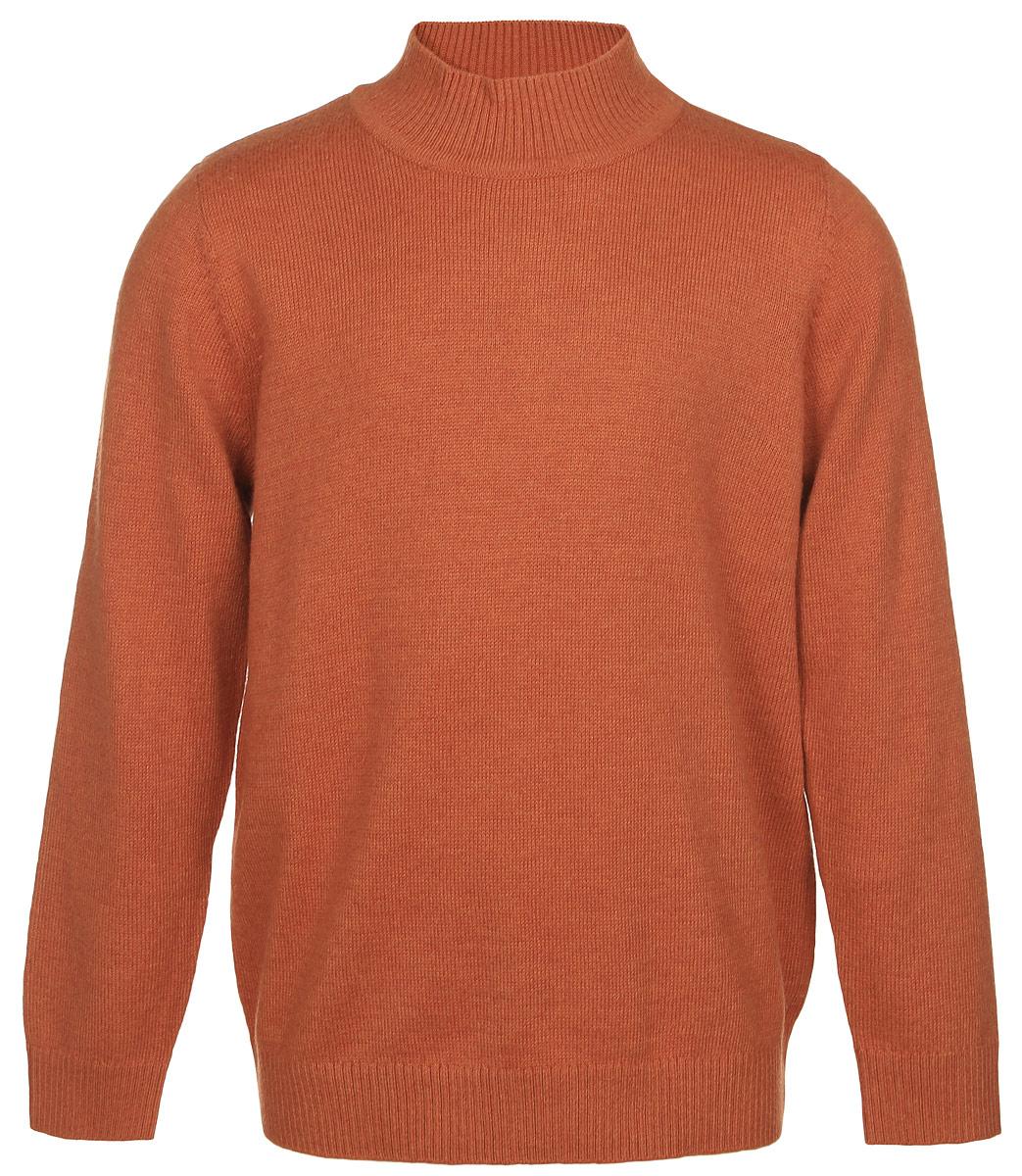 Джемпер для мальчика Sela, цвет: темно-оранжевый. JR-714/163-6332. Размер 110, 5 летJR-714/163-6332Джемпер для мальчика Sela идеально подойдет маленькому моднику. Изготовленный из хлопка с добавлением нейлона и шерсти, он необычайно мягкий и тактильно приятный, не стесняет движений, хорошо пропускает воздух. Джемпер с длинными рукавами имеет небольшой воротник-стойку. Воротник, манжеты и низ изделия связаны резинкой, что предотвращает деформацию при носке. Дизайн и расцветка делают этот джемпер стильным и модным предметом детского гардероба. В нем ребенку будет уютно и тепло!