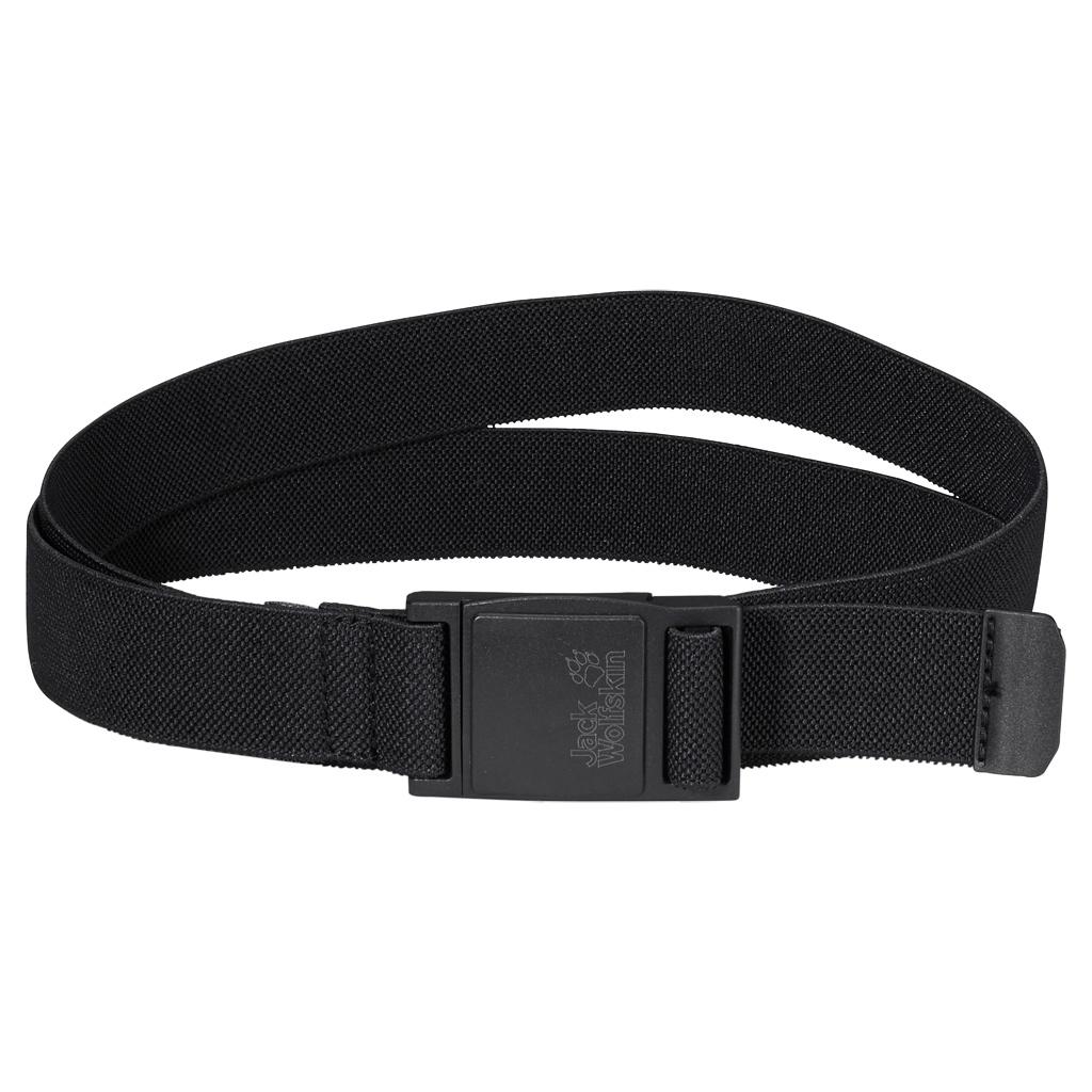 Ремень Jack Wolfskin Stretch Belt, цвет: черный. 8001761-6000. Размер универсальный8001761-6000Эластичный ремень с магнитной застежкой. Удобная эластичность: наш ремень STRETCH BELT очень приятно носить благодаря его эластичности. Он застегивается одним движением руки на качественную магнитную пряжку. 125/115 x 3 см