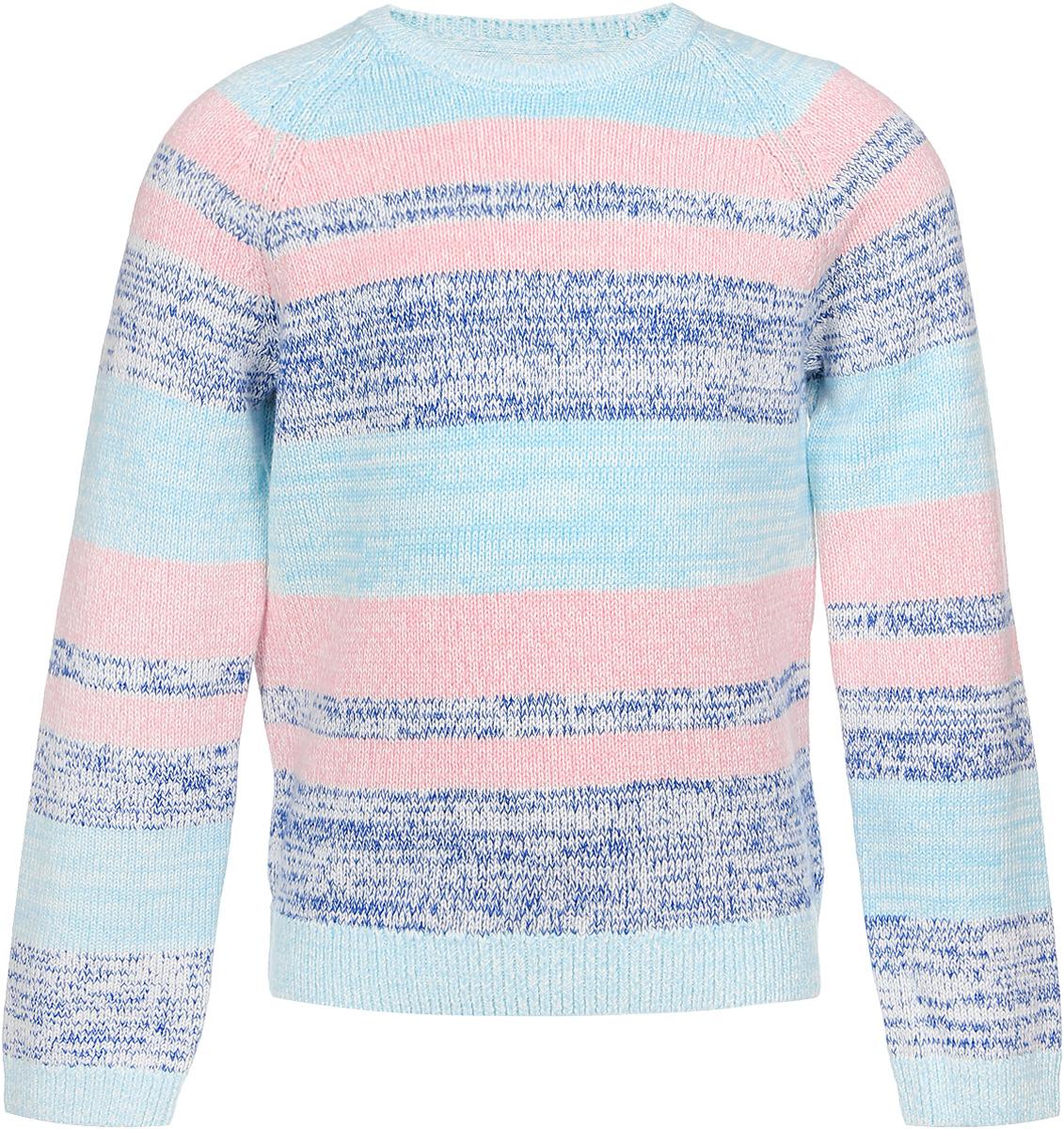 Джемпер для девочки Sela, цвет: синий, розовый, бирюзовый. JR-514/097-6311. Размер 98, 3 годаJR-514/097-6311Джемпер для девочки Sela идеально подойдет вашей маленькой моднице. Изготовленный из натурального хлопка, он необычайно мягкий и приятный на ощупь, не сковывает движения, обеспечивая наибольший комфорт. Модель с длинными рукавами-реглан и круглым вырезом горловины оформлена принтом в полоску. Вырез горловины, низ джемпера и рукава связаны резинкой. Современный дизайн и расцветка делают этот джемпер модным и стильным предметом детского гардероба. В нем ваша дочурка будет чувствовать себя уютно, комфортно и всегда будет в центре внимания!