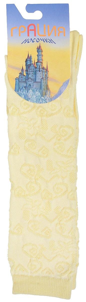 Гольфы для девочки Грация, цвет: светло-желтый. Д 2203. Размер 19/21Д 2203Гольфы для девочки Грация выполнены из мягкого эластичного материала. Изделие приятное на ощупь, хорошо пропускает воздух.Эластичная резинка мягко облегает ножку ребенка, создавая удобство и комфорт. Усиленные пятка и мысок обеспечивают надежность и долговечность. Гольфы оформлены красивым рельефным рисунком. Гольфы станут отличным дополнением к гардеробу маленькой модницы! Уважаемые клиенты!Размер, доступный для заказа, является длиной стопы.