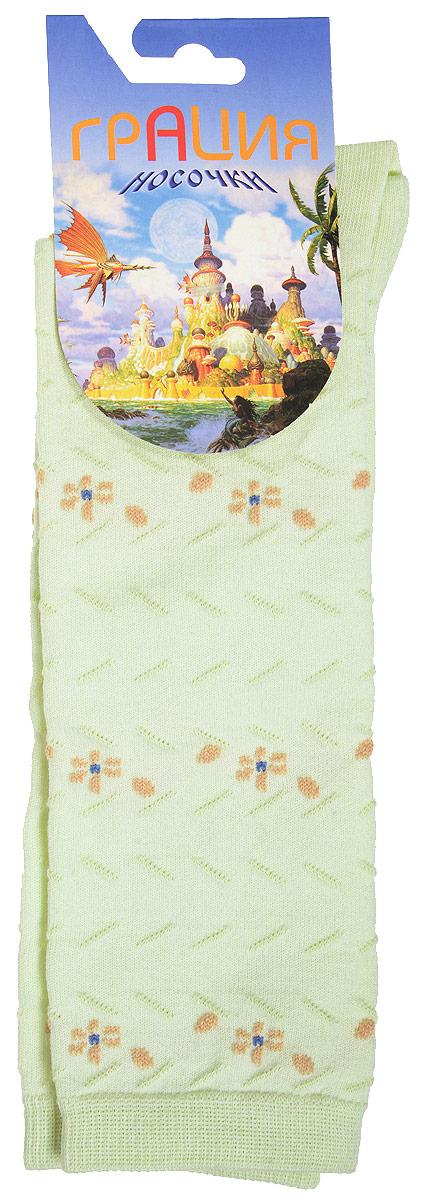 Гольфы для девочки Грация, цвет: светло-зеленый. Д 2202. Размер 16/18Д 2202Гольфы для девочки Грация выполнены из мягкого эластичного материала. Изделие приятное на ощупь, хорошо пропускает воздух.Эластичная резинка мягко облегает ножку ребенка, создавая удобство и комфорт. Усиленные пятка и мысок обеспечивают надежность и долговечность. Гольфы оформлены рельефными вязаными полосками и цветочками контрастного цвета. Гольфы станут отличным дополнением к гардеробу маленькой модницы! Уважаемые клиенты!Размер, доступный для заказа, является длиной стопы.