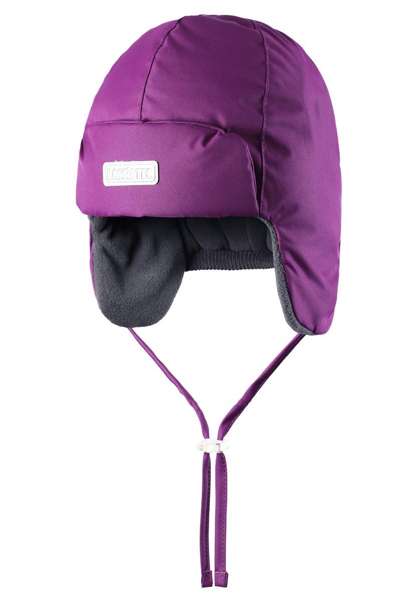 Шапка детская Lassie, цвет: фиолетовый. 718691-4890. Размер 46718691-4890Встречайте зиму в этой теплой шапке для малышей! Мягкая флисовая подкладка очень приятна на ощупь, а благодаря водонепроницаемому, ветронепроницаемому и дышащему материалу шапка абсолютно непромокаемая. Светоотражающая эмблема Lassie спереди позволяет лучше разглядеть ребенка после того, как стемнеет.