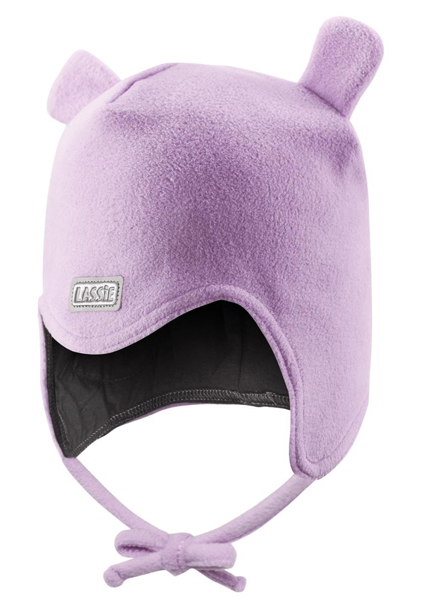 Шапка для девочки Lassie, цвет: сиреневый. 718690-5120. Размер XS (44/46)718690-5120Очень важно, чтобы ушки были хорошо защищены во время игр на свежем воздухе. Эта теплая шапка для малышей идеальна для холодных зимних деньков! Благодаря быстросохнущему флису и мягкой подкладке из джерси, шапка очень удобная и приятная на ощупь, а ветронепроницаемые вставки в области ушей обеспечивают дополнительную защиту. Светоотражающая эмблема Lassie спереди.
