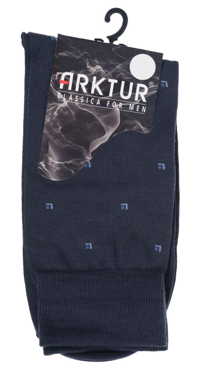 Носки мужские Arktur, цвет: темно-серый. Л 209. Размер 44/45Л 209Мужские носки Arktur изготовлены из хлопка с добавлением полиамида. Материал тактильно приятный, хорошо пропускает воздух. Носки дополнены комфортной эластичной резинкой. Изделие оформлено мелким абстрактным принтом. Удобные и прочные носки станут отличным дополнением к вашему гардеробу.