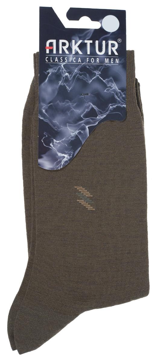 Носки мужские Arktur, цвет: оливковый. Л 510. Размер 40/42Л 510Теплые мужские шерстяные носки Arktur изготовлены из высококачественного сырья с добавлением шерстяных волокон, которые обеспечат тепло вашим ногам, даже в холодную погоду. Носки отличаются элегантным внешним видом. Удобная широкая резинка идеально облегает ногу, усиленные пятка и мысок повышают износоустойчивость носка, а удлиненный паголенок придает более эстетичный вид. Удобные шерстяные носки станут отличным дополнением к вашему гардеробу.