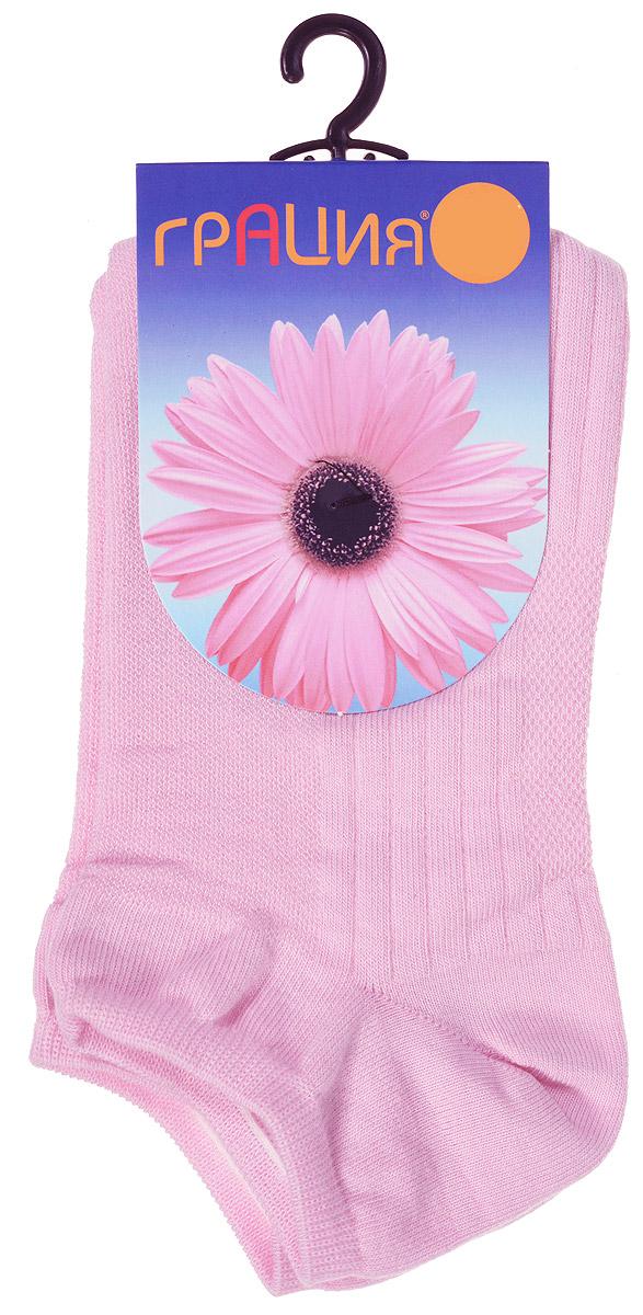 Носки женские Грация, цвет: розовый. М 1405. Размер 1 (35/37)М 1405Удобные женские носки Грация, изготовленные из высококачественного комбинированного материала, очень мягкие и приятные на ощупь, позволяют коже дышать. Эластичная резинка плотно облегает ногу, не сдавливая ее, обеспечивая комфорт и удобство. Носки с укороченным паголенком оформлены рельефными полосками.Удобные и комфортные носки великолепно подойдут к любой вашей обуви.