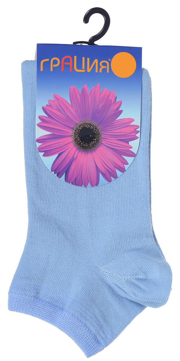 Носки женские Грация, цвет: голубой, сине-голубой. H 001. Размер 1 (35/37)H 001Удобные женские носки Грация, изготовленные из высококачественного комбинированного материала, очень мягкие и приятные на ощупь, позволяют коже дышать. Эластичная резинка плотно облегает ногу, не сдавливая ее, обеспечивая комфорт и удобство. Носки с укороченным паголенком оформлены полосками контрастного цвета в верхней части носка.Удобные и комфортные носки великолепно подойдут к любой вашей обуви.