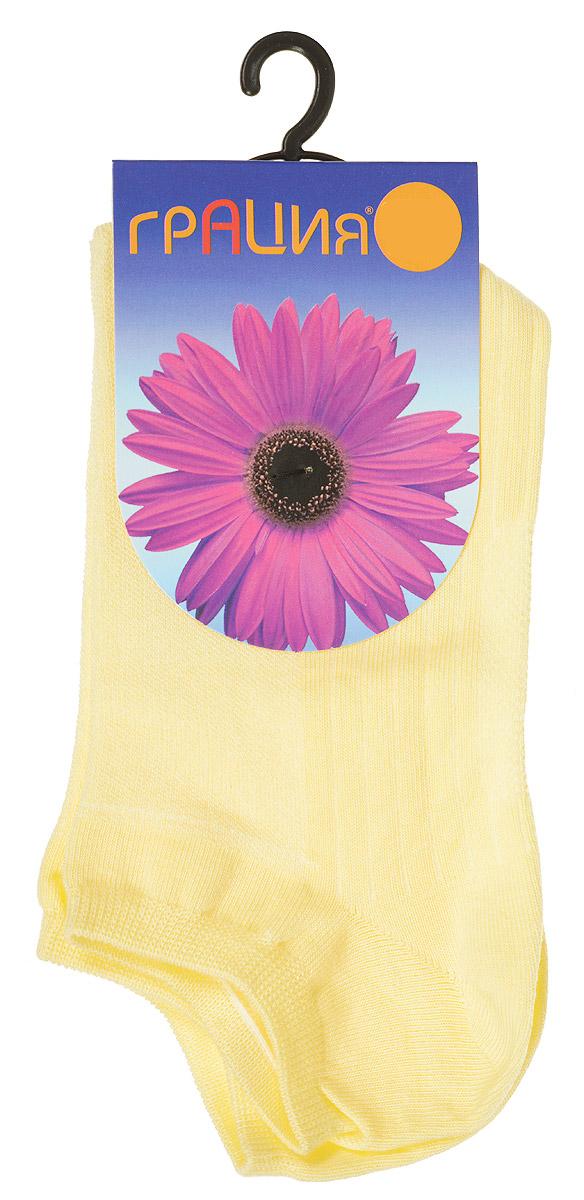 Носки женские Грация, цвет: желтый. М 1405. Размер 1 (35/37)М 1405Удобные женские носки Грация, изготовленные из высококачественного комбинированного материала, очень мягкие и приятные на ощупь, позволяют коже дышать. Эластичная резинка плотно облегает ногу, не сдавливая ее, обеспечивая комфорт и удобство. Носки с укороченным паголенком оформлены рельефными полосками.Удобные и комфортные носки великолепно подойдут к любой вашей обуви.