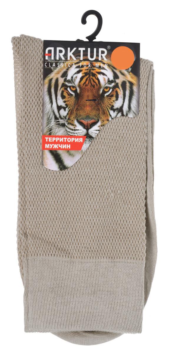 Носки мужские Arktur, цвет: бежевый. J 011. Размер 40/41J 011Легкие мужские носки Arktur, изготовленные из высококачественного комбинированного материала, вязка сетка по всему носку. Комфортная широкая резинка пресс-контроль не сдавливает и комфортно облегает ногу.Очень мягкие и приятные на ощупь, позволяют коже дышать.Обладают повышенной прочностью, благодаря усиленной пятке и мыску.