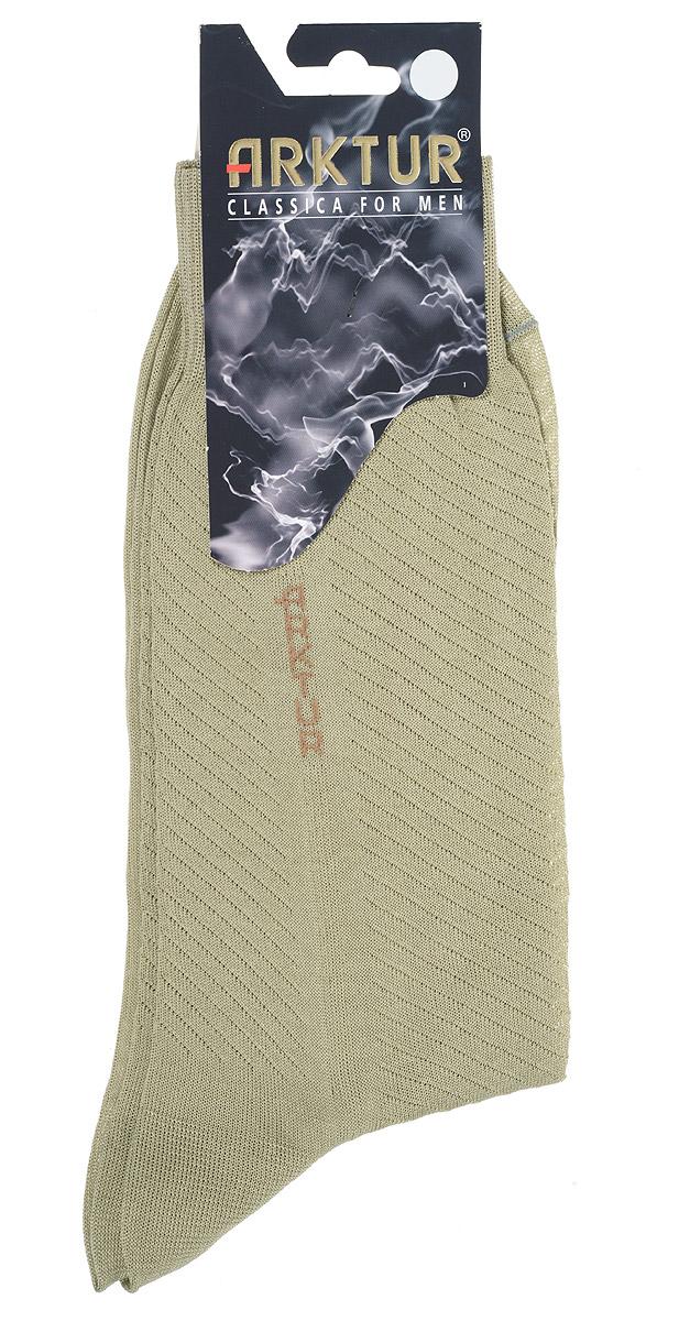 Носки мужские Arktur, цвет: фисташковый. Л 153. Размер 42/43Л 153Легкие мужские носки Arktur из мерсеризованного хлопка.Носки отличаются элегантным внешним видом. Эластичная резинка мягко облегает ногу, обеспечивая комфорт при носке. Модель оформлена логотипом бренда на паголенке и рельефными диагональными полупрозрачными полосками.Удобные и комфортные носки великолепно подойдут к любой вашей обуви.