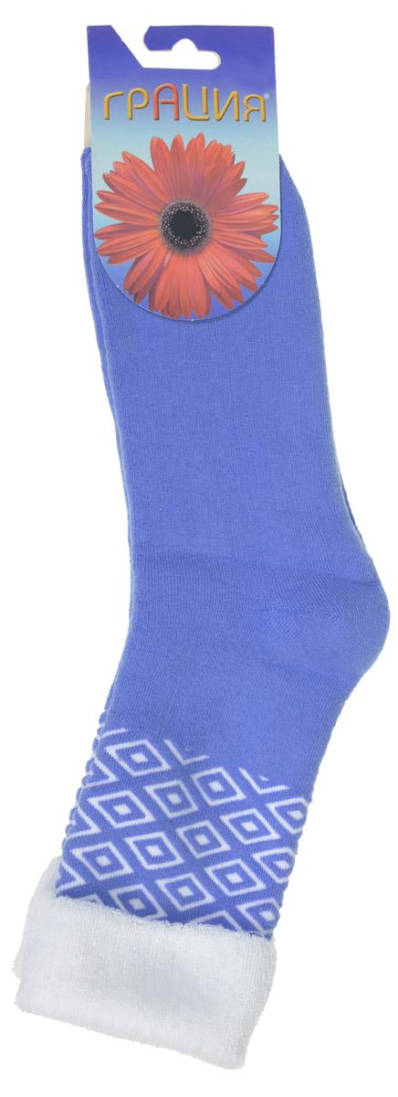 Носки женские Грация, цвет: сине-голубой, белый. М 1084. Размер 1 (35/37)М 1084Женские теплые носки Грация, изготовленные из высококачественного комбинированного материала, очень мягкие и приятные на ощупь, позволяют коже дышать. Эластичная резинка плотно облегает ногу, не сдавливая ее, обеспечивая комфорт и удобство. Махровые носки со удлиненным паголенком, который оформлен геометрическим паголенком и дополнен отворотом контрастного цвета.Удобные и комфортные носки великолепно подойдут к любой вашей обуви.