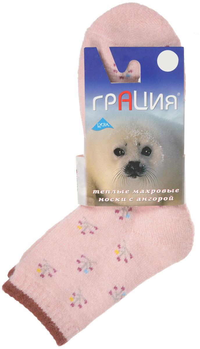 Носки женские Грация, цвет: светло-розовый. М 1107. Размер 1 (35/37)М 1107Теплые женские носки Грация, изготовленные из высококачественного комбинированного материала, очень мягкие и приятные на ощупь, позволяют коже дышать. Эластичная резинка плотно облегает ногу, не сдавливая ее, обеспечивая комфорт и удобство. Махровые носки имеют паголенок стандартной длинны и оформлены оригинальным орнаментом.Удобные и комфортные носки великолепно подойдут к любой вашей обуви.