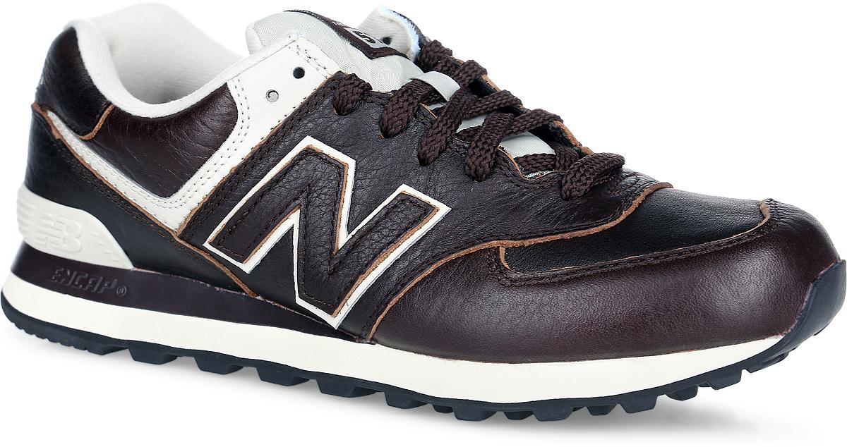 Кроссовки мужские New Balance 574 Classic, цвет: темно-коричневый. ML574LUA/D. Размер 8,5 (42)ML574LUA/DСтильные кроссовки 574 Classic от New Balance придутся вам по душе. Верх модели выполнен из натуральной и искусственной кожи, язычок - из нейлона. По бокам обувь оформлена нашивками из искусственной кожи в виде фирменного логотипа бренда, на язычке - фирменной нашивкой, на заднике - вышитым названием бренда. Классическая шнуровка надежно зафиксирует изделие на ноге. Мягкая подкладка, изготовленная из текстиля, гарантирует уют и предотвращает натирание. Стелька из материала ЭВА с текстильной поверхностью, дополненная легкой перфорацией для лучшей воздухопроницаемости, обеспечивает комфорт. Благодаря технологии Encap значительно снижается нагрузка на пятку и позвоночник. Резиновая подошва с рифлением обеспечивает отличное сцепление с любой поверхностью. Удобные кроссовки займут достойное место среди коллекции вашей обуви.