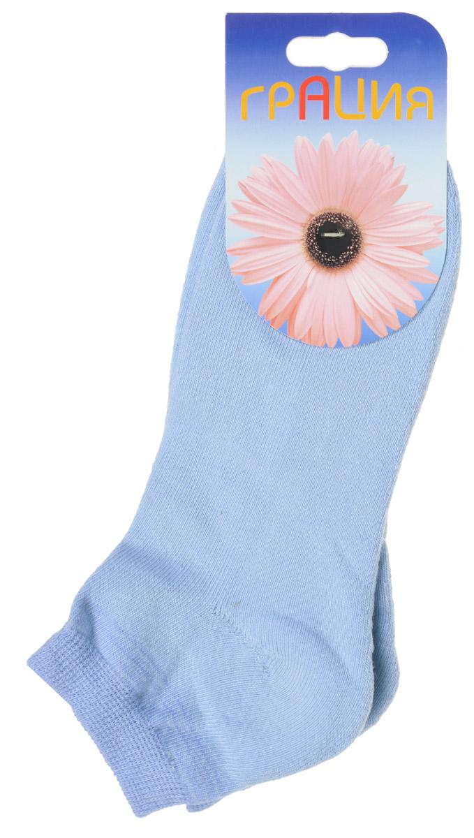 Носки женские Грация, цвет: голубой, сине-голубой. H 050. Размер 1 (35/37)H 050Теплые женские носки Грация, изготовленные из высококачественного комбинированного материала, очень мягкие и приятные на ощупь, позволяют коже дышать. Эластичная резинка плотно облегает ногу, не сдавливая ее, обеспечивая комфорт и удобство. Внутренняя часть стопы махровая. Носки с укороченным паголенком, который оформлен нежным принтом в полоску.Удобные и комфортные носки великолепно подойдут к любой вашей обуви.