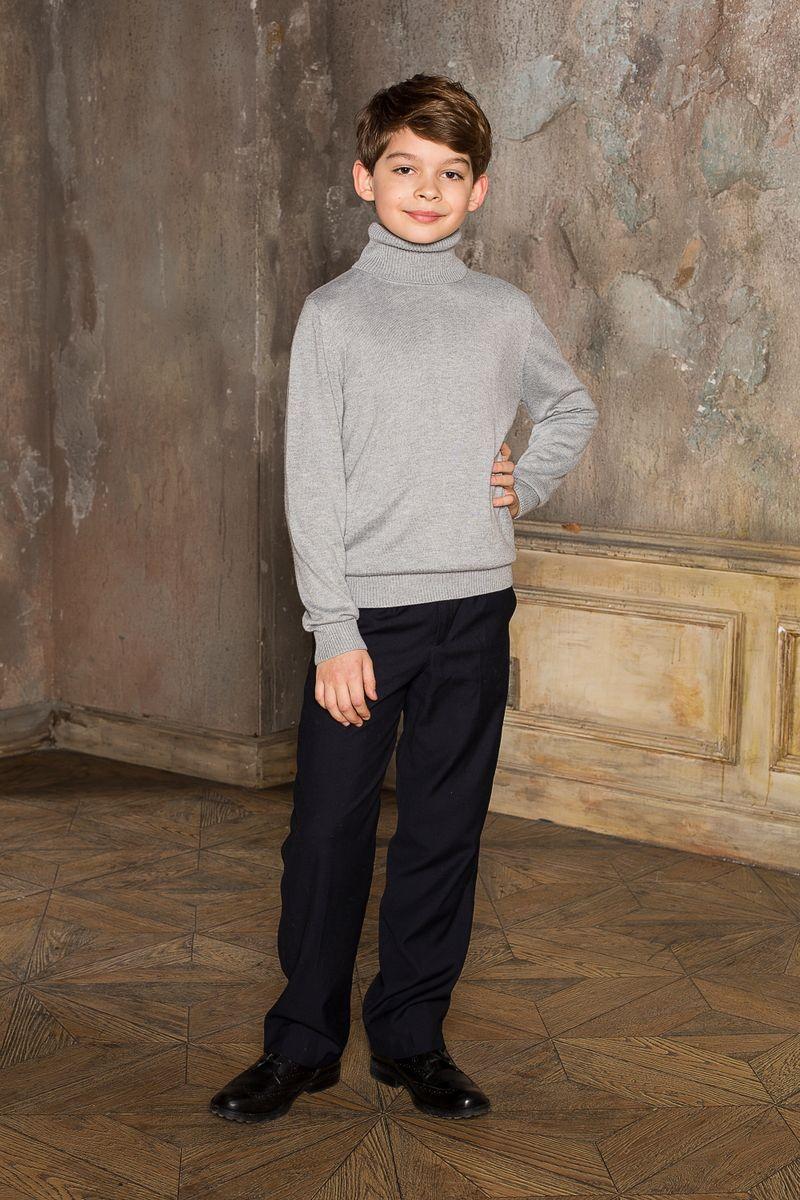 Водолазка для мальчика Luminoso, цвет: серый меланж. 206616. Размер 128206616Вязаная классическая водолазка для мальчика Luminoso с воротником-гольф и длинными рукавами. Шерсть и кашемир в составе делают модель очень теплой, мягкой и комфортной.