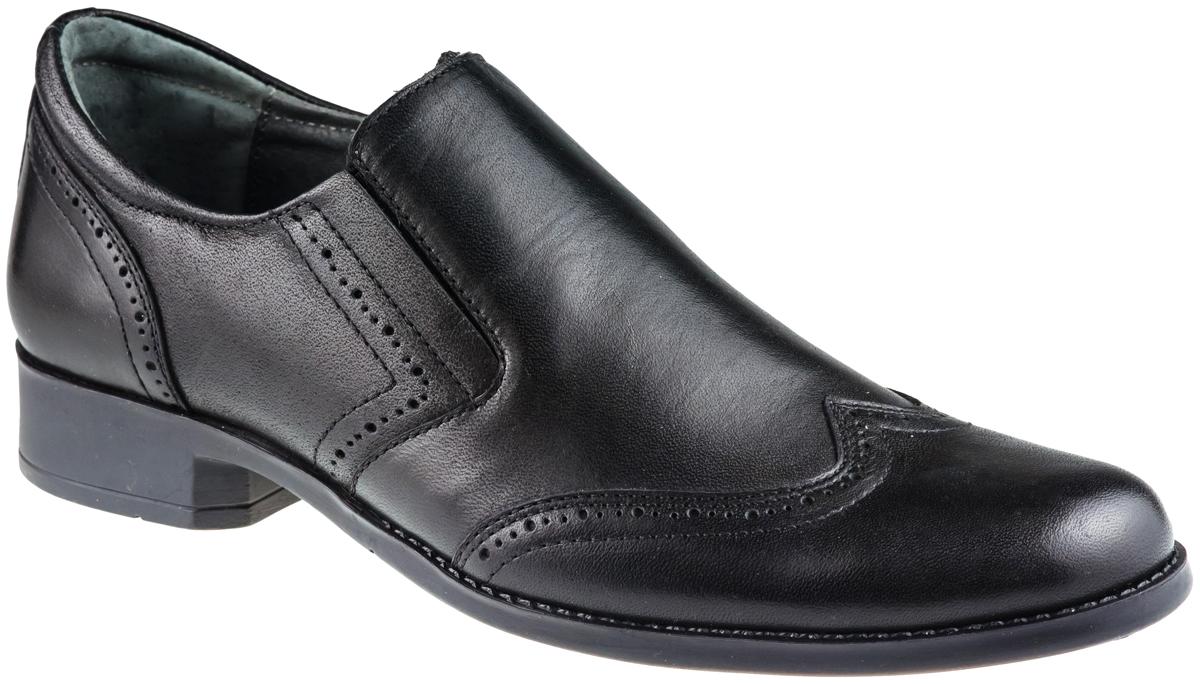Туфли для мальчика Elegami, цвет: черный. 3/4-517871601. Размер 40517871601Стильные туфли для мальчика от Elegami выполнены из натуральной кожи и оформлены декоративной перфорацией. Внутренняя поверхность и стелька из натуральной кожи обеспечат комфорт при движении. Эластичные вставки по бокам обеспечивают идеальную посадку модели на ноге. Подошва и каблук дополнены рифлением.