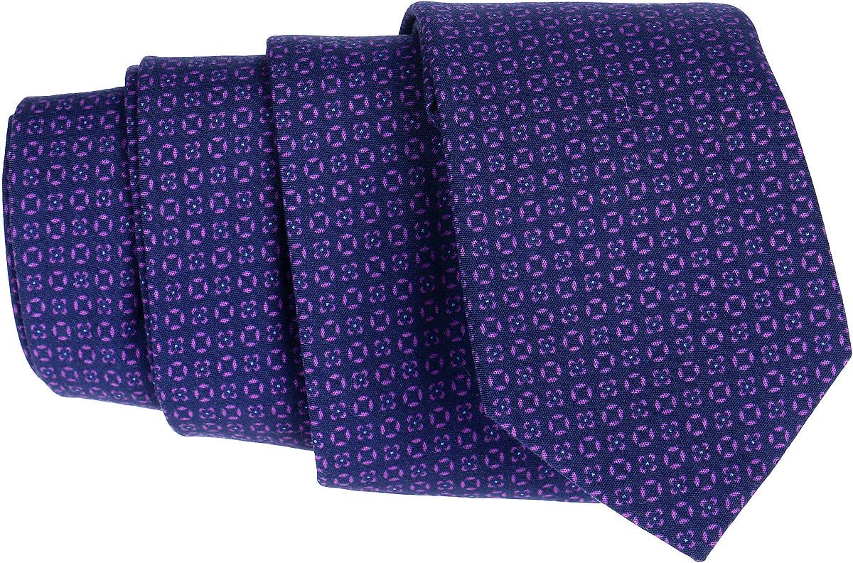 Галстук Eterna, цвет: фиолетовый. 9806_97_STD. Размер универсальный9806_97_STDОригинальный галстук Eterna является оптимальным завершением образа. Этот модный аксессуар порадует вас высоким качеством исполнения и современным дизайном. Галстук полностью выполнен из хлопка и оформлен оригинальным принтом.Такой стильный галстук подойдет как к повседневному, так и к официальному наряду, он позволит вам подчеркнуть свою индивидуальность и создать свой неповторимый стиль.