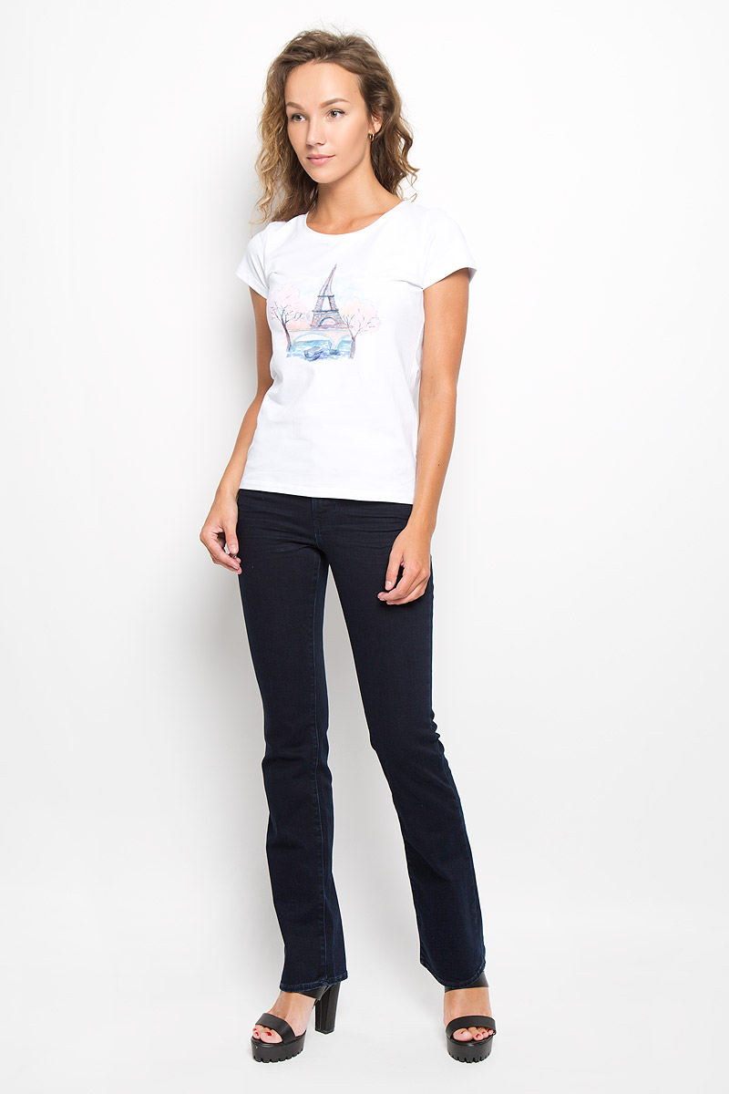 Джинсы женские Wrangler Tina, цвет: темно-синий. W242QC51L. Размер 26-32 (42-32)W242QC51LКлассический женский стиль Wrangler bootcut (небольшой клеш) с комфортной высокой посадкой.Стильные женские джинсы Wrangler Tina высочайшего качества, созданы специально для того, чтобы подчеркивать достоинства вашей фигуры. Модель прямого покроя слегка расклешена к низу и с комфортнойпосадкой, оформлена декоративными прострочками. Застегиваются джинсы на пуговицу и ширинку на застежке-молнии, имеются шлевки для ремня. Спереди модель оформлена двумя втачными карманами и одним небольшим секретным кармашком, а сзади - двумя накладными карманами.