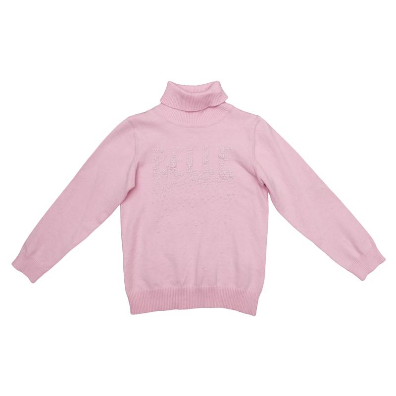 Свитер для девочки PlayToday, цвет: розовый. 362056. Размер 122362056Уютный джемпер для девочки выполнен из трикотажа мелкой вязки с высоким воротником, надежно защищающим от ветра.Модель оформлена аппликацией из жемчужных страз с эффектом 3D. Воротник, рукава и низ изделия выполнены из широкой вязаной резинки.