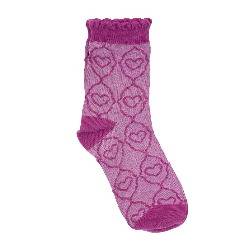 Носки для девочки PlayToday, цвет: сиреневый. 362089. Размер 16362089Носочки для девочки выполнены из мягкого трикотажного полотна с верхом на мягкой резинке и оформлены принтом с сердечками.