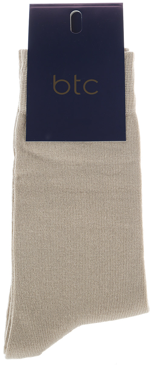 Носки мужские BTC, цвет: бежевый. 12.019189. Размер 31/3312.019189Удобные носки BTC, изготовлены из высококачественного комбинированного материала, который обеспечивает великолепную посадку.Очень мягкие и приятные на ощупь. Эластичная резинка плотно облегает ногу, не сдавливая ее, обеспечивая комфорт и удобство.Практичные и комфортные носки великолепно подойдут к любой вашей обуви.