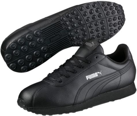 Кроссовки мужские Puma Turin, цвет: черный. 36011606. Размер 9,5 (43)36011606Кроссовки Puma Turin - это универсальные кроссовки, вдохновленные классическими футбольными моделями. Благодаря мягкой искусственной коже верха и амортизирующей промежуточной подошве из этиленвинилацетата эта модель дарит комфорт, сохраняя все признаки классической спортивной обуви, и при этом прекрасно подходит для повседневной носки. Закрытый верх идеально подойдет в ненастную погоду и отлично впишется в любой гардероб. Мягкие и удобные, они подарят вам свободу движений и превосходно подчеркнут ваш спортивный образ.