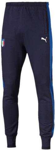 Брюки спортивные мужские Puma Figc Tribute 2006 Pants, цвет: синий. 750490061. Размер XXL (52/54)7504900_61Коллекция 2006-2016 TRIBUTE – дань уважения великолепной футбольной команде Италии! Любая модель этой линии – просто находка для настоящего болельщика! Спортивные брюки выполнены из натурального хлопка специально для фанатов, декорированы вышитым логотипом Puma и официальной эмблемой Федерации футбола Италии. Оно имеет стандартную посадку.