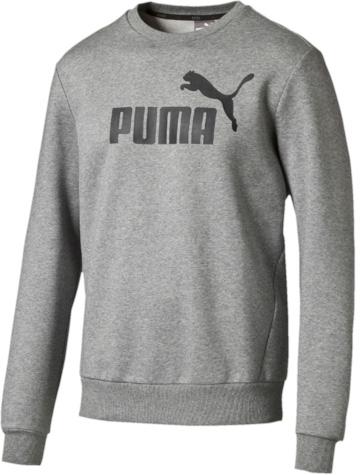 Свитшот мужской Puma ESS No.1 Crew Sweat, Fl, цвет: серый. 83825203. Размер XL (52)838252_03Свитшот от Puma прямого кроя выполнен из меланжевого трикотажа с мягким внутренним слоем. Модель декорирована прорезиненным логотипом Puma. Среди других отличительных особенностей изделия - отделка ворота трикотажем в рубчик и тесьмой сзади по вороту с фирменной символикой, а также отделка манжет и подола трикотажем в резинку.